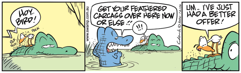 Swamp Cartoon - Nitpicker Bird Has Better OfferDecember 8, 2020