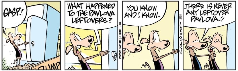Swamp Cartoon - Where are Pavlova LeftoversDecember 17, 2020