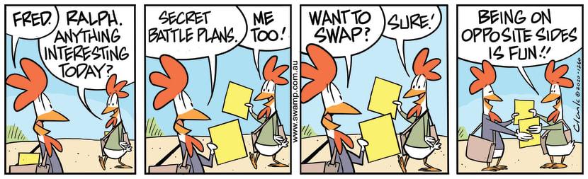 Swamp Cartoon - Carrying Interesting DocumentsDecember 19, 2020