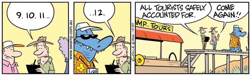 Swamp Cartoon - Tourist Head CountDecember 22, 2020