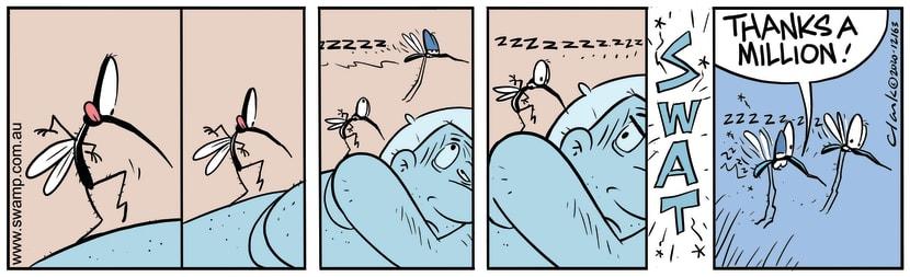 Swamp Cartoon - Mosquito Tip ToeingDecember 23, 2020