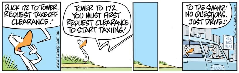 Swamp Cartoon - Duck 172 Taxi ClearanceJanuary 25, 2021