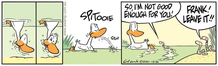 Swamp Cartoon - Spitting Out Frank WormJanuary 28, 2021