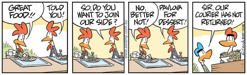Swamp Cartoon - Carrier Pigeon Good FoodJanuary 30, 2021