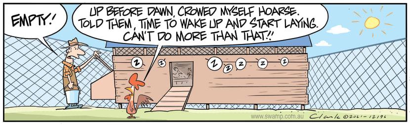 Swamp Cartoon - Chicken Farmer Not HappyFebruary 9, 2021
