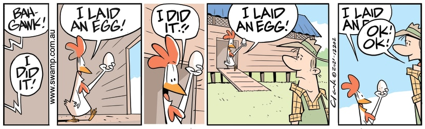 Swamp Cartoon - Chicken Has Laid EggFebruary 15, 2021
