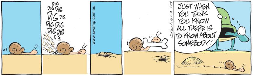 Swamp Cartoon - Snail Buries His BoneMay 4, 2021