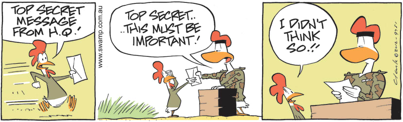 Swamp Cartoon - Carrier Pigeon 590 Delivers MessageMay 20, 2021