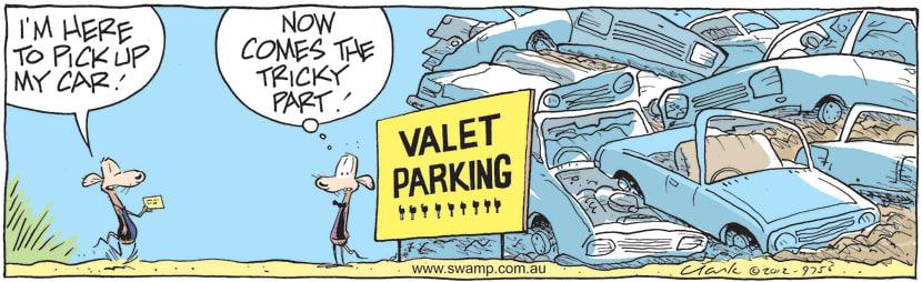 Swamp Cartoon - Chives Rat Offers Valet ParkingMay 31, 2021