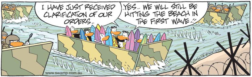 Swamp Cartoon - Clarification of Their OrdersJune 1, 2021