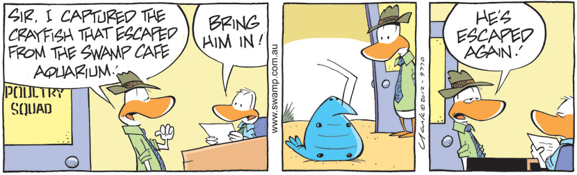 Swamp Cartoon - Poultry Squad Capture Bob CrayfishJune 3, 2021