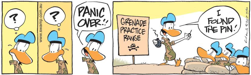 Swamp Cartoon - Army Duck Declares Panic OverJune 11, 2021