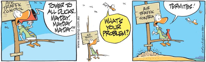 Swamp Cartoon - Air Traffic Controller Declares an EmergencyJune 19, 2021