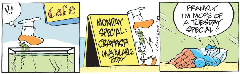 Swamp Cartoon - Bob Crayfish is Monday's SpecialJune 28, 2021