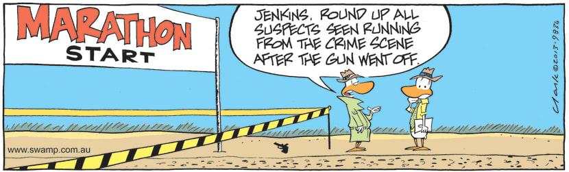 Swamp Cartoon - Jenkins Round up all SuspectsJune 30, 2021