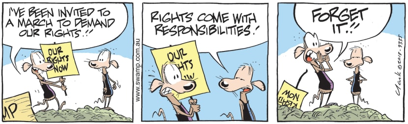 Swamp Cartoon - March to Demand our RightsJuly 1, 2021