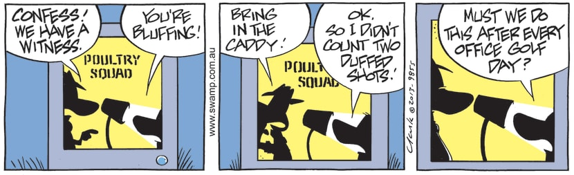 Swamp Cartoon - Poultry Squad Officer InterrogationJuly 10, 2021