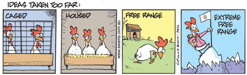 Swamp Cartoon - Allowed to Go Free RangeJuly 17, 2021