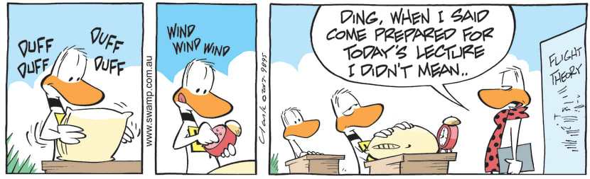 Swamp Cartoon - Ding Duck Expecting BoredomJuly 30, 2021