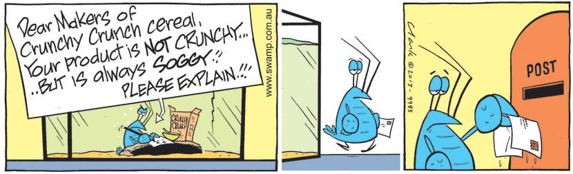 Swamp Cartoon - Breakfast of Crunchy Crunch CerealSeptember 4, 2021