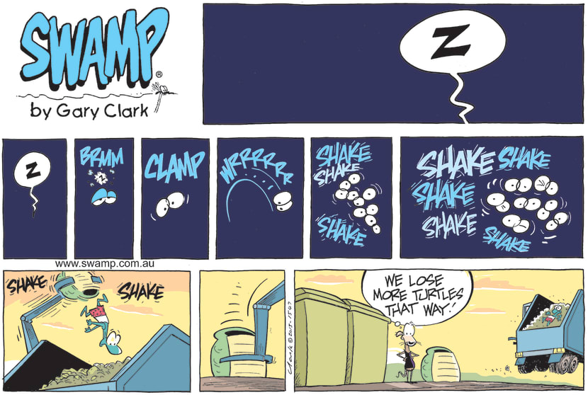 Swamp Cartoon - Bin Collection DayJune 6, 2021