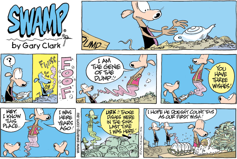 Swamp Cartoon - Cheese and Chives Rats have Three WishesJune 20, 2021