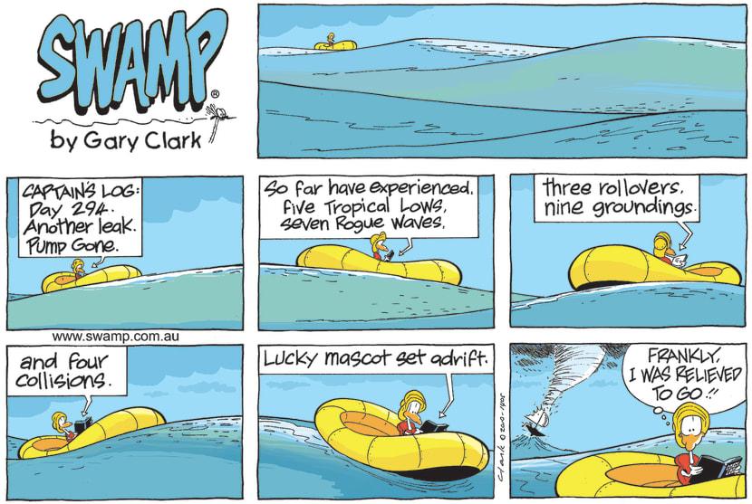Swamp Cartoon - Lucky Mascot Set AdriftMay 16, 2021