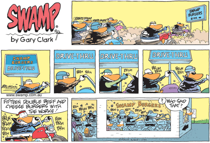 Swamp Cartoon - Swamp Burgers Drive-thruApril 18, 2021