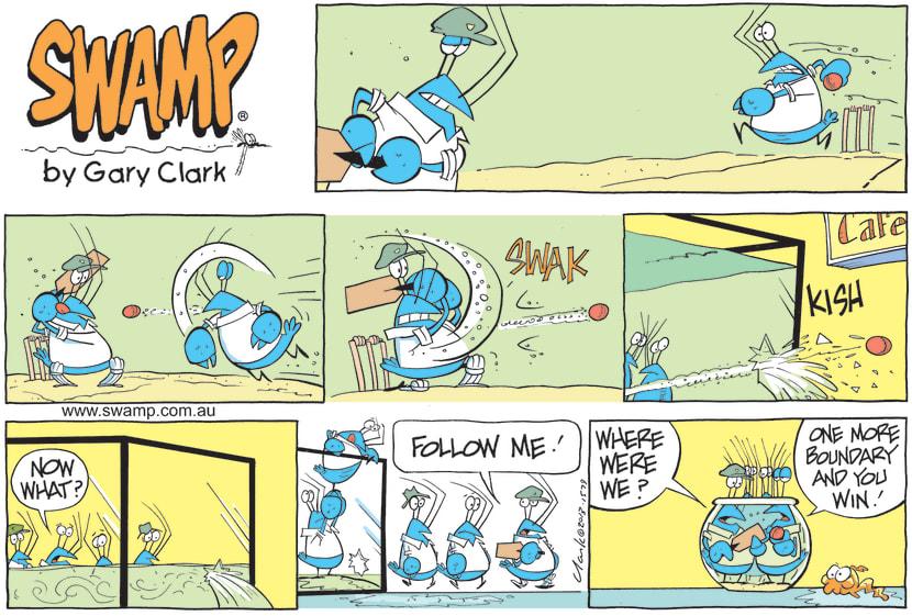 Swamp Cartoon - Bob Crayfish is Playing CricketMay 30, 2021