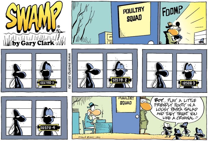 Swamp Cartoon - Line UpSeptember 22, 2002