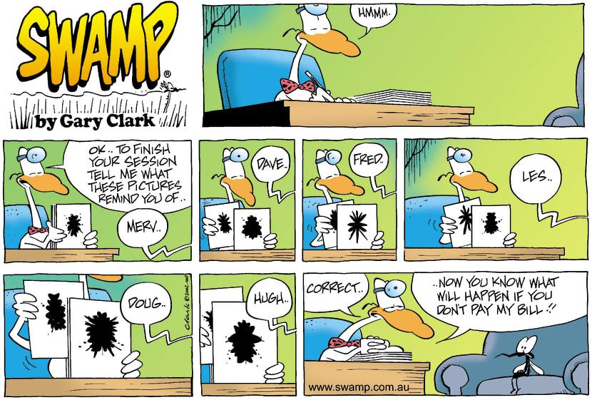Swamp Cartoon - PychiatristSeptember 29, 2002