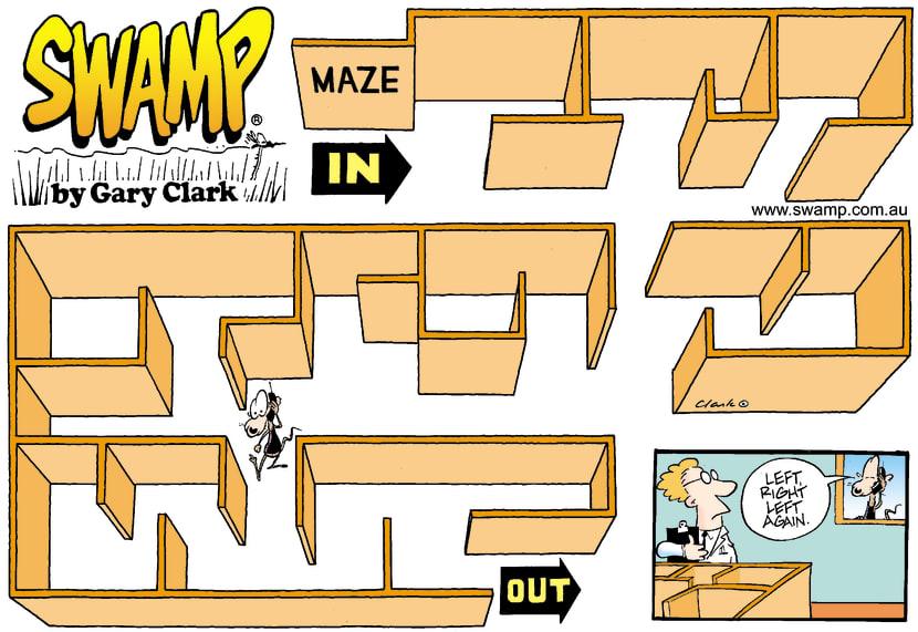 Swamp Cartoon - MazeOctober 6, 2002