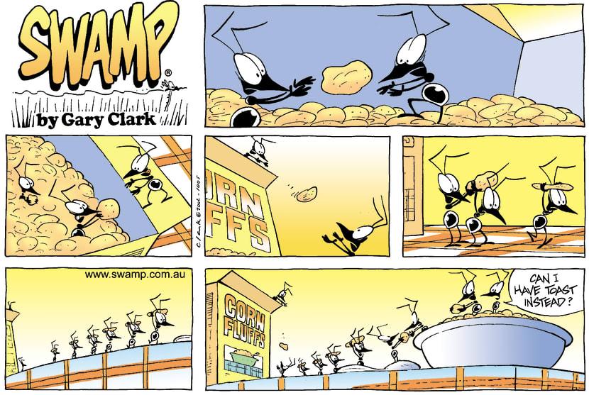 Swamp Cartoon - Corn FluffsOctober 13, 2002