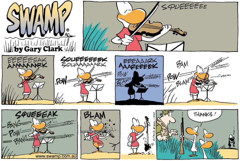 Swamp Cartoon - ViolinOctober 20, 2002