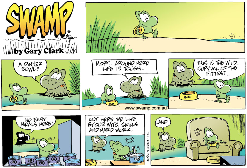 Swamp Cartoon - DinnerNovember 17, 2002