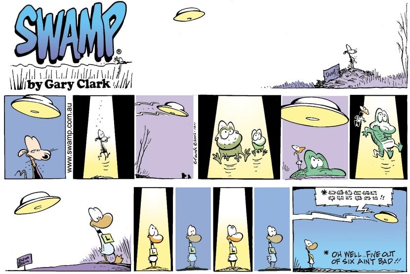 Swamp Cartoon - UFOsNovember 24, 2002