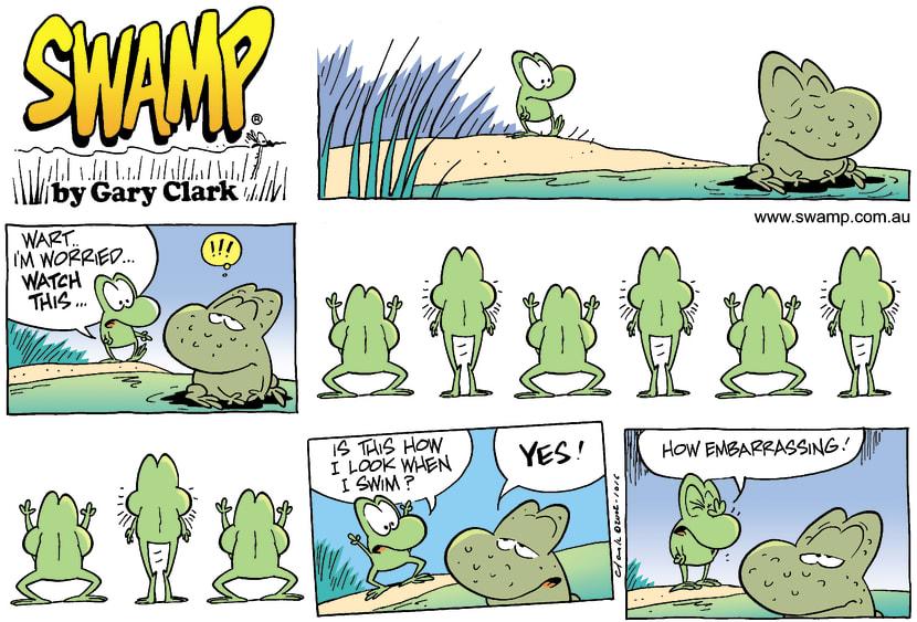 Swamp Cartoon - WorriedDecember 29, 2002