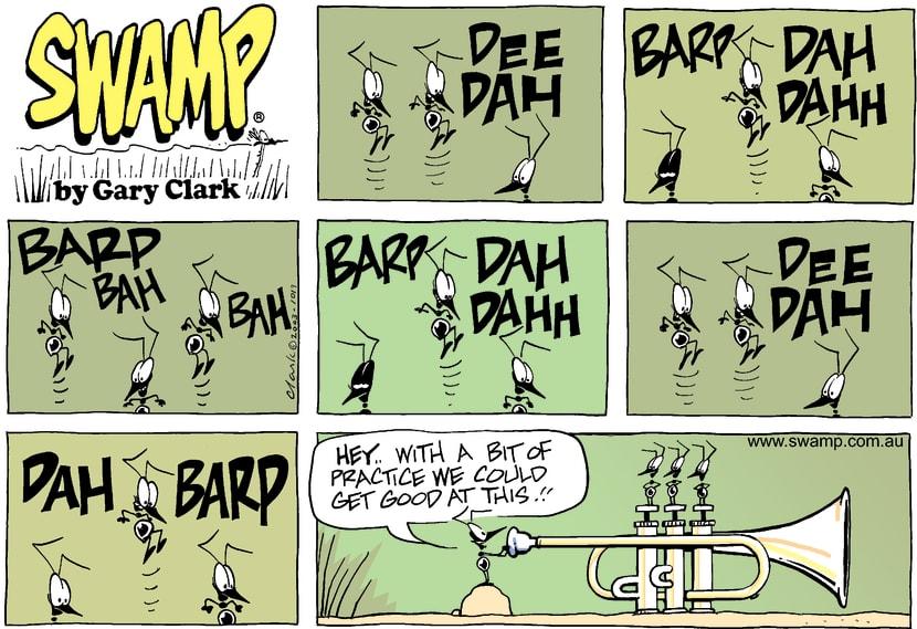 Swamp Cartoon - Barp Dee DaJanuary 19, 2003