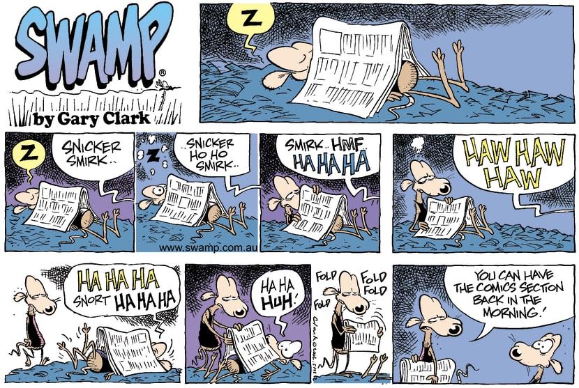 Swamp Cartoon - Rat NapFebruary 23, 2003