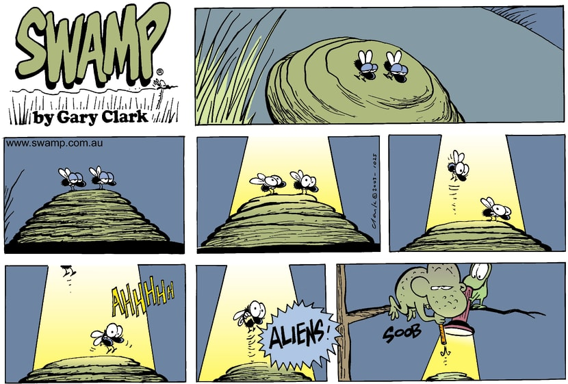 Swamp Cartoon - Wart and Mort TrickMarch 2, 2003