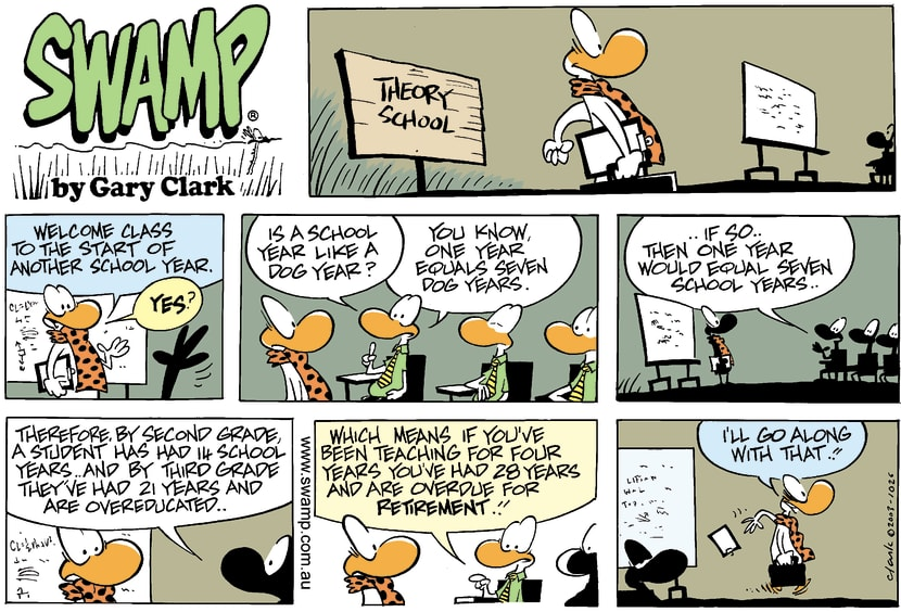 Swamp Cartoon - Dog YearsMarch 9, 2003