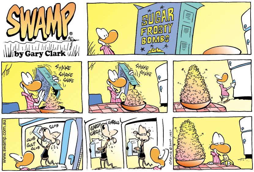 Swamp Cartoon - Frosty BombsMarch 16, 2003