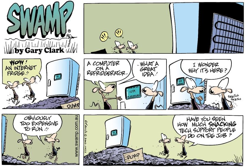 Swamp Cartoon - Internet FridgeMarch 30, 2003