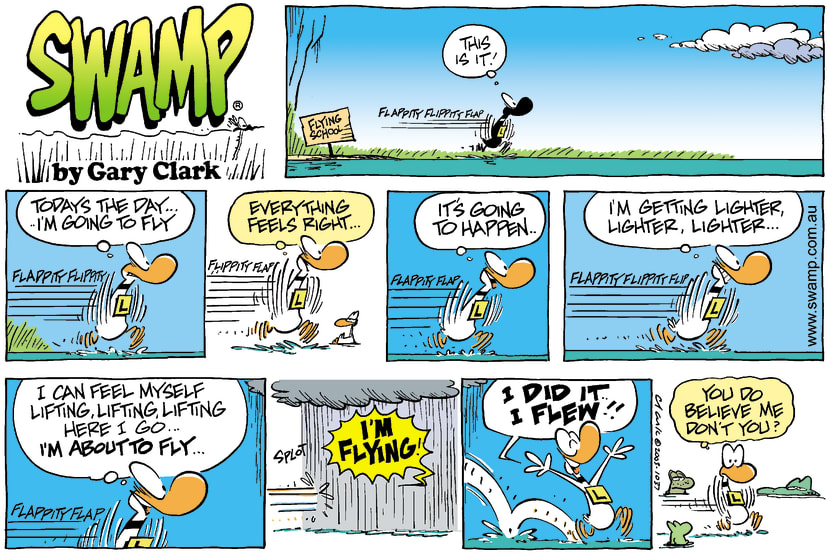Swamp Cartoon - FlyingMay 25, 2003