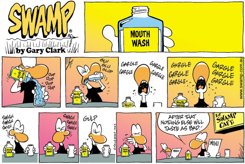 Swamp Cartoon - Mouth WashJune 29, 2003