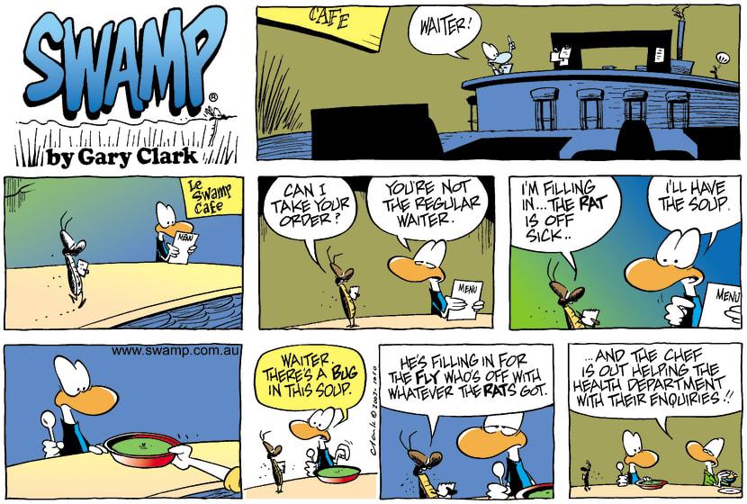 Swamp Cartoon - Sick LeaveAugust 24, 2003