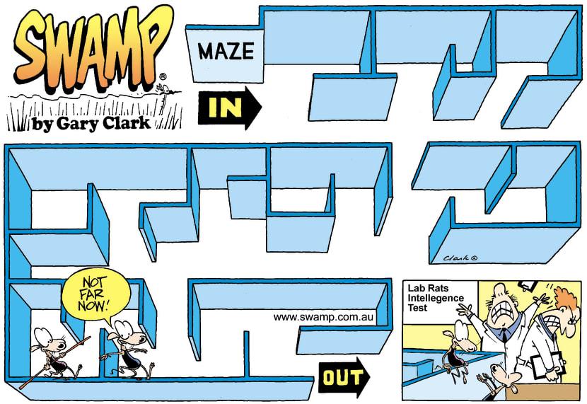 Swamp Cartoon - MazeSeptember 14, 2003