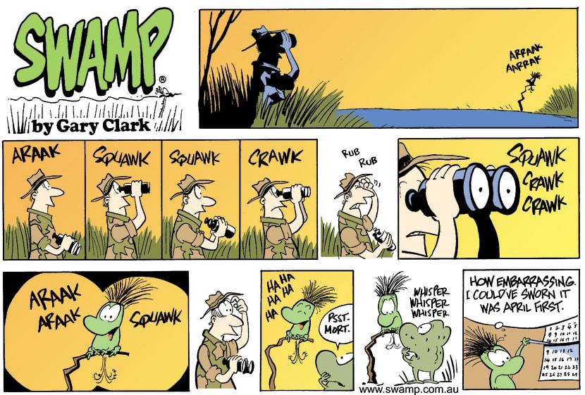 Swamp Cartoon - Mort Frog ImpersonationSeptember 21, 2003