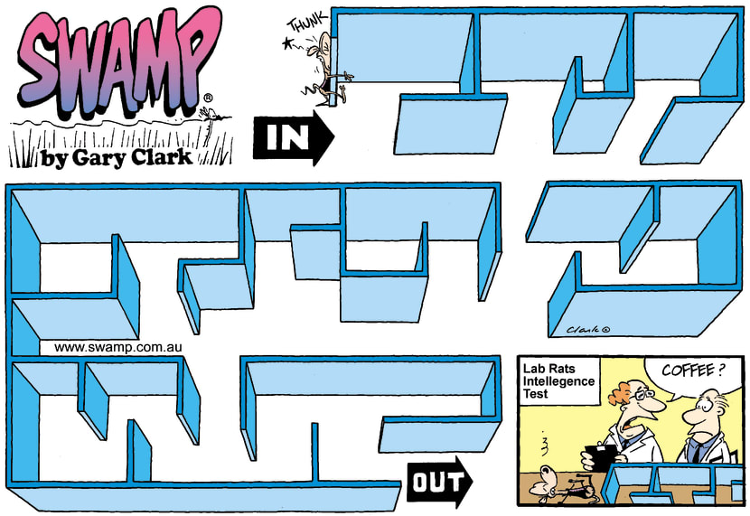 Swamp Cartoon - Maze 3September 28, 2003