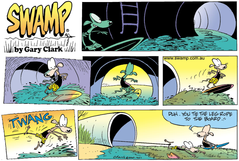 Swamp Cartoon - Surfs UpOctober 12, 2003